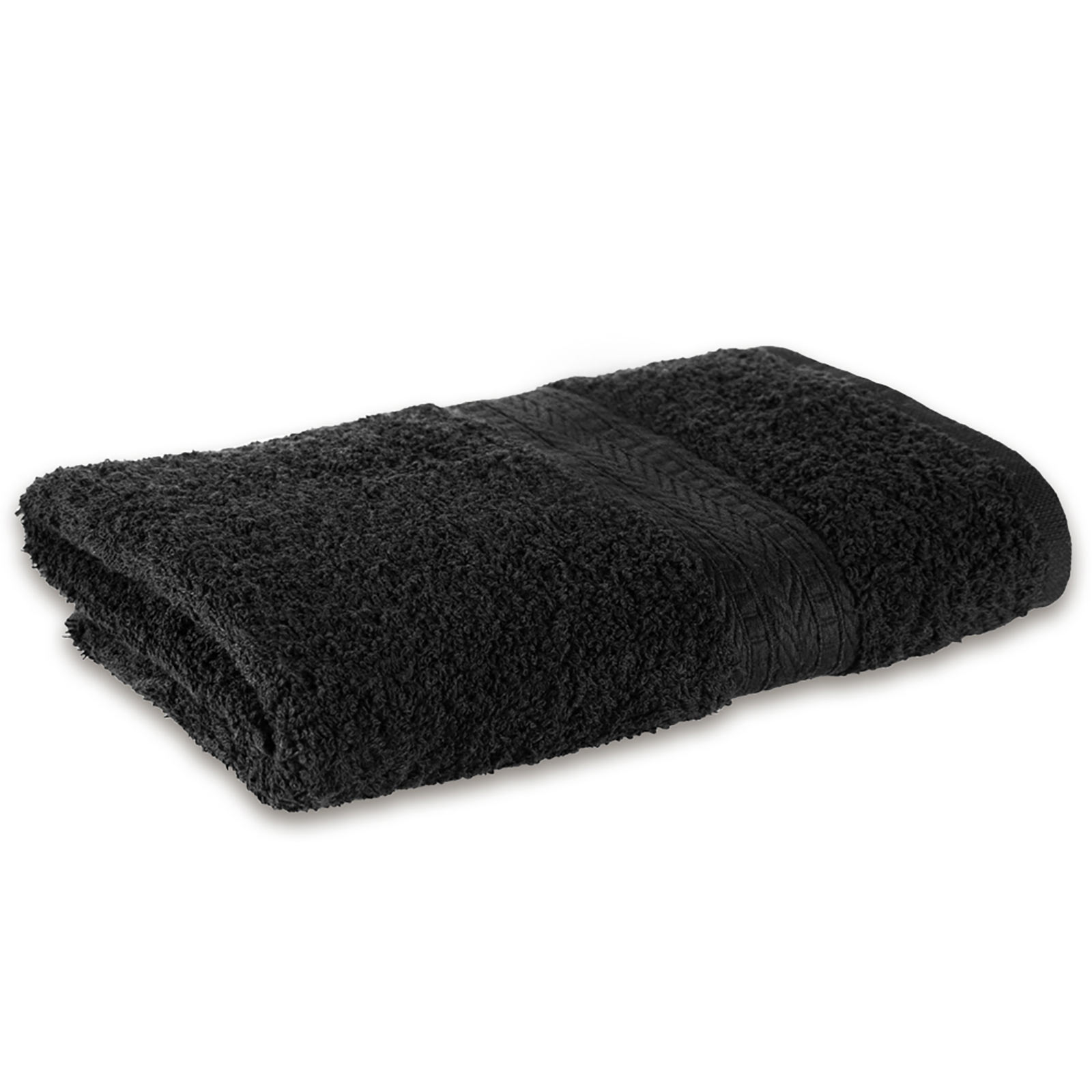 6 handt cher schwarzes handtuch black schwarz friseur ebay. Black Bedroom Furniture Sets. Home Design Ideas