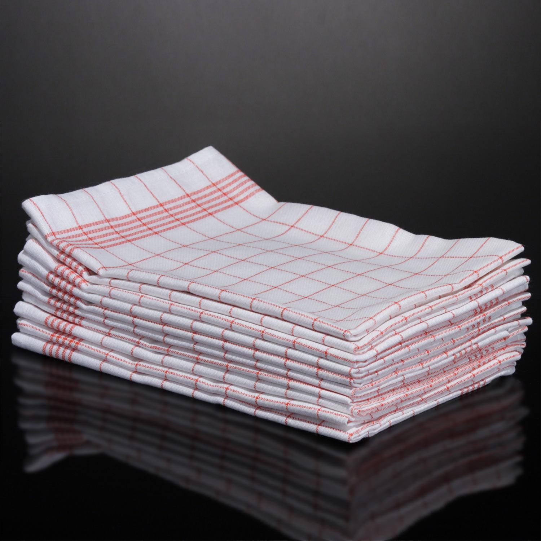 geschirrtuch halbleinen 30 st ck rot leinen und baumwolle geschirrt cher ebay. Black Bedroom Furniture Sets. Home Design Ideas