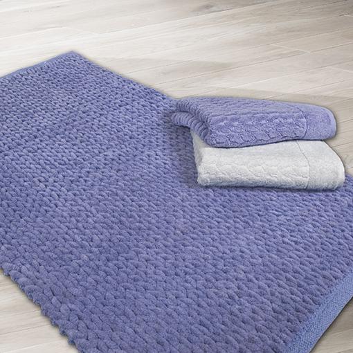 Badteppich 2100gqm ZopfMuster Edel Baumwolle Teppich